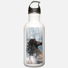 Mustang Horse In The Snow Water Bottle
