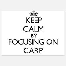 Keep Calm by focusing on Carp Invitations