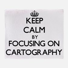 Keep Calm by focusing on Cartography Throw Blanket