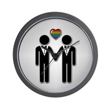 Mr & Mr Rainbow Grooms Wall Clock
