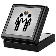 Mr & Mr Rainbow Grooms Keepsake Box