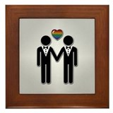 Gay wedding Framed Tiles