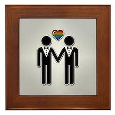 Mr & Mr Rainbow Grooms Framed Tile