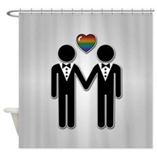 Mr & Mr Rainbow Grooms Shower Curtain
