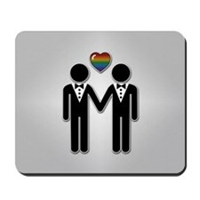 Mr & Mr Rainbow Grooms Mousepad