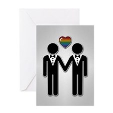 Mr & Mr Rainbow Grooms Greeting Card