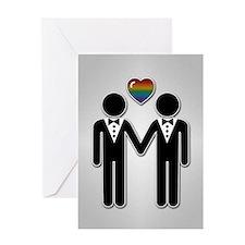 Mr & Mr Rainbow Grooms Greeting Card