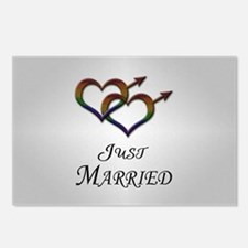 Just Married Gay Pride Postcards (Package of 8)
