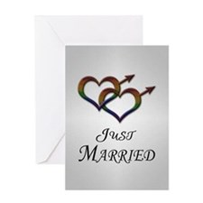 Just Married Gay Pride Greeting Cards