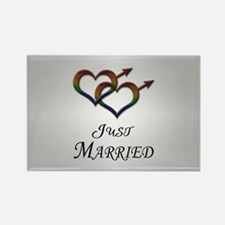 Just Married Gay Pride Magnets
