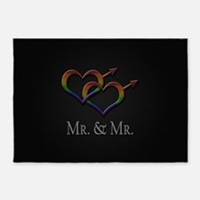 Mr. and Mr. Gay Pride 5'x7'Area Rug