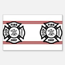 Firefighter Fire Chief Decal