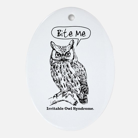 IRRITABLE OWL Ornament (Oval)