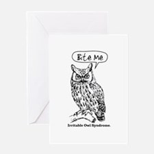 IRRITABLE OWL Greeting Card