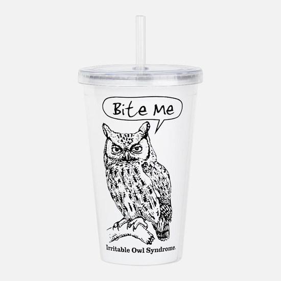 IRRITABLE OWL Acrylic Double-wall Tumbler
