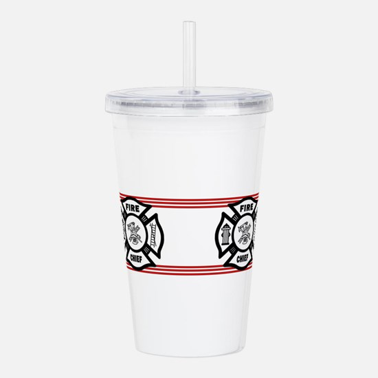 Firefighter Fire Chief Acrylic Double-wall Tumbler