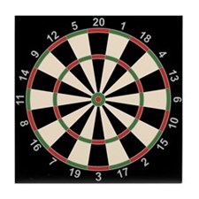 Dart Board Art Decor Tile Coaster