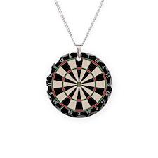 Dart Board Art Decor Necklace