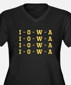 I O W A Plus Size T-Shirt