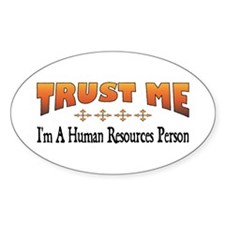 Trust Human Resources Person Oval Decal
