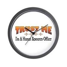 Trust Human Resources Officer Wall Clock