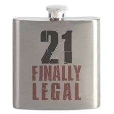 21 and Finally Legal Drinkware Flask