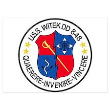 DD-848 USS WITEK Destroyer Ship Milita Invitations