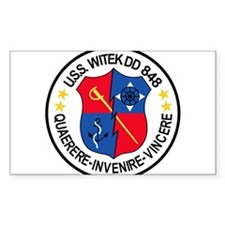 DD-848 USS WITEK Destroyer Decal