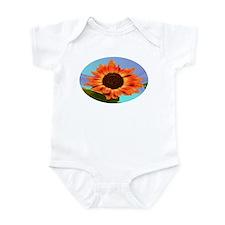 Sun flower blue Infant Bodysuit