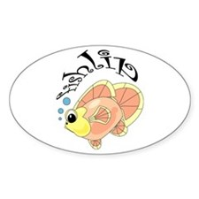 Fishlip Oval Decal