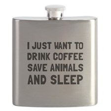 Coffee Animals Sleep Flask