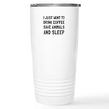 Coffee Animals Sleep Travel Mug