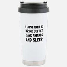 Coffee Animals Sleep Travel Mug