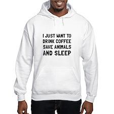 Coffee Animals Sleep Hoodie