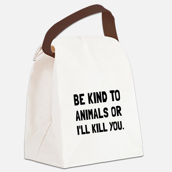 Kind To Animals Canvas Lunch Bag