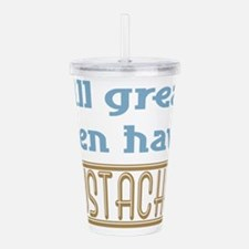 Mustaches Acrylic Double-wall Tumbler