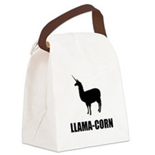 Llama Corn Canvas Lunch Bag