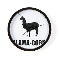 Llama Corn Wall Clock