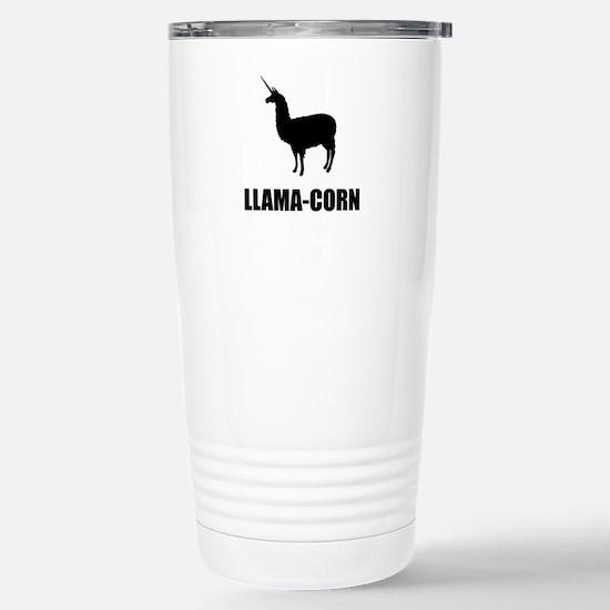 Llama Corn Travel Mug