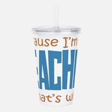 teacher Acrylic Double-wall Tumbler