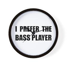 Prefer Bass Player Wall Clock