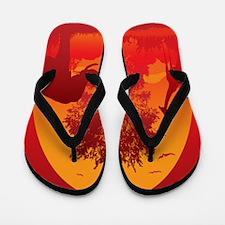 African Savanna Flip Flops