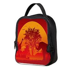 African Savanna Neoprene Lunch Bag
