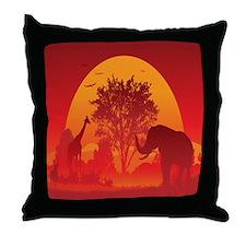 African Savanna Throw Pillow