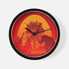 African Savanna Wall Clock