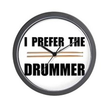 Prefer Drummer Wall Clock