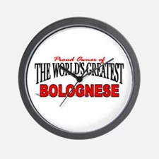 """""""The World's Greatest Bolognese"""" Wall Clock"""