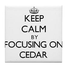 Keep Calm by focusing on Cedar Tile Coaster