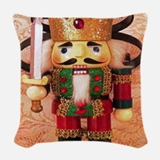 Holiday Nutcracker Woven Throw Pillow