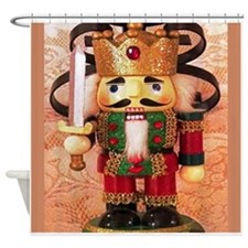Holiday Nutcracker Shower Curtain